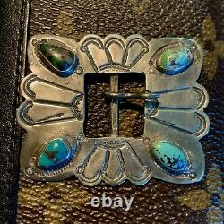 1910s 1920s Old Belt Ingot Silver Hat Band Buckle Fred Harvey Navajo Southwest