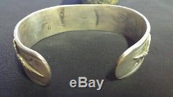 1940s Fred Harvey Navajo Whirling Log & Snake revival bracelet sterling silver