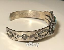 3 Vintage Sterling Silver NAVAJO TURQUOISE FRED HARVEY Era Cuff BRACELETS