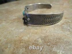 AUTHENTIC OLD 1930's Fred Harvey Era Navajo Sterling Silver Turquoise Bracelet