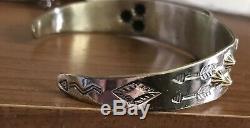 Bell Trading Fred Harvey Era Sterling Silver 925 Thunderbird Cuff Bracelet Rare
