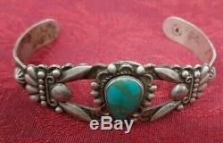Bell Trading Indian Trading post TURQUOISE Silver FRED HARVEY Cuff BRACELET