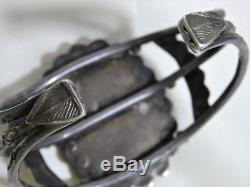 Big 61G Fred Harvey Era NATIVE American CARICO LAKE TURQUOISE SILVER Ag Bracelet