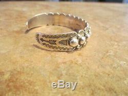 CLASSIC OLD Fred Harvey Era Navajo Sterling Silver DOME Row Bracelet