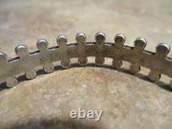 DYNAMITE OLD Fred Harvey Era Navajo Sterling Silver Arrow Raindrop Bracelet