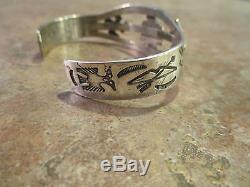 EARLY Fred Harvey Era Navajo 900 Coin Silver THUNDERBIRD WHIRLING LOG Bracelet