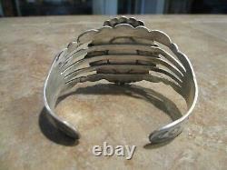 ELABORATE OLD Fred Harvey Era Navajo Sterling Silver Arrow Design Bracelet