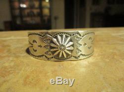 EXTRA FINE OLD Fred Harvey Era Navajo Sterling Silver CONCHO Design Bracelet