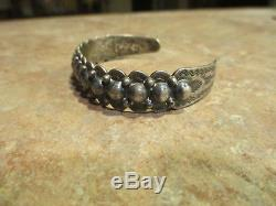 EXTRA FINE Old Fred Harvey Era Bell Navajo Sterling Silver DOME Row Bracelet