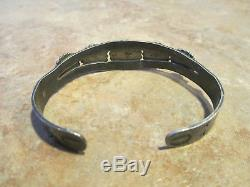 EXTRA OLD Fred Harvey Era BELL Navajo Sterling Silver DOME Row Cuff Bracelet