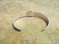 EXTRA OLD Fred Harvey Era Navajo Sterling Silver Button Dome Bracelet