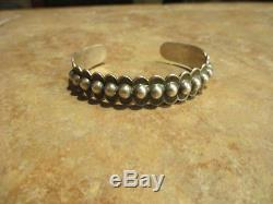 EXTRA OLD Fred Harvey Era Sterling Silver DOME Row Cuff Bracelet 1940's