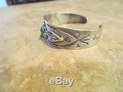EXTRA SCARCE OLD Fred Harvey Navajo 900 Coin Silver THUNDERBIRD ARROW Bracelet