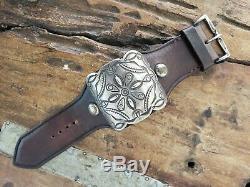 Early Fred Harvey Design Silver Ketoh Bow Guard bracelet By BUFFALO Santa Fe