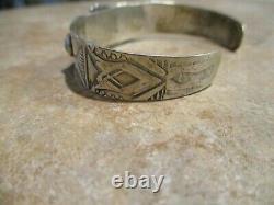 Exquisite OLD Fred Harvey Era Navajo Sterling Silver PREMIUM Turquoise Bracelet