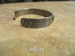 Exquisite OLD Fred Harvey Era Navajo Sterling Silver Turquoise ROW Bracelet