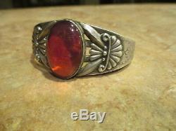 Extra Fine OLD Fred Harvey Era Navajo Sterling Silver DRAGON'S BREATH Bracelet