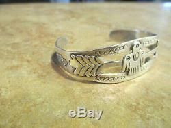Extra Fine OLD Fred Harvey Era Navajo Sterling Silver THUNDERBIRD ARROW Bracelet