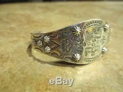 Extra Fine OLD Fred Harvey Era Navajo Sterling Silver THUNDERBIRD CLOUD Bracelet