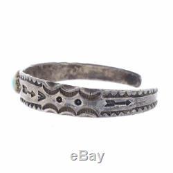 FRED HARVEY 30s NAVAJO Navajo Turquoise Vintage Bangle Bracelet Silver