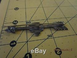FRED HARVEY Arrow Navajo Thunderbird Sterling 900 coin Silver Pin Brooch b