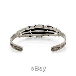 FRED HARVEY Era Navajo Handmade Sterling Silver Turquoise Cuff Bracelet AJB