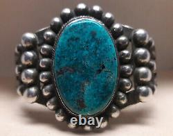 Fred Harvey Blue Pyrite Turquoise Sterling Silver cuff bracelet 63 grams
