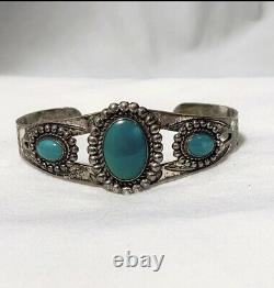 Fred Harvey Cuff Lot Sterling Silver Turquoise