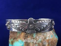 Fred Harvey Era Bell Trading Post Navajo Silver Cuff Bracelet