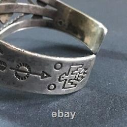 Fred Harvey Era Bell Trading Post Sterling Silver Turquoise Cuff Bracelet