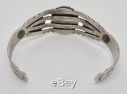 Fred Harvey Era Bell Trading Post Turquoise Sterling Silver Cuff Arrow Bracelet