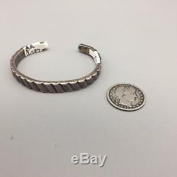 Fred Harvey Era Bracelet Sterling or Coin Silver Better Kind of Ingot Bracelet