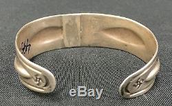 Fred Harvey Era Bracelet Sterling or Coin Silver Whirling Logs Design