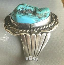 Fred Harvey Era Men's RING Turquoise Nugget Size 12 Wt 16.1 grams #290