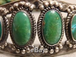 Fred Harvey Era NAVAJO Natural NEVADA TURQUOISE Variscite STERLING Silver CUFF