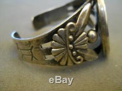 Fred Harvey Era Native America 1923 Peace Silver Dollar Sterling Silver Bracelet