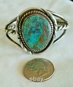 Fred Harvey Era Navajo Native American Indian Silver Turquoise Bracelet Becenti