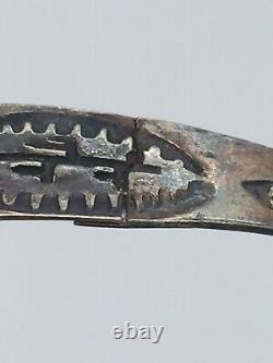 Fred Harvey Era Navajo Native American Sterling Silver Turquoise Bracelet