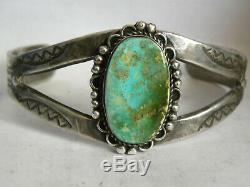 Fred Harvey Era Navajo Royston Turquoise Sterling Silver Cuff Bracelet 30.7grams