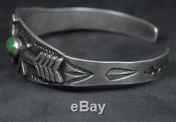 Fred Harvey Era Navajo Silver Turquoise Horse Dog Applied Design Cuff Bracelet