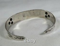 Fred Harvey Era Navajo Sterling Silver Dome Cuff Bracelet