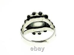 Fred Harvey Era Old Pawn Style Sterling Silver Ring with Adjustable Size