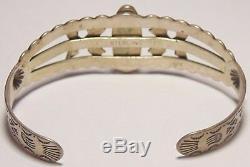 Fred Harvey Era Pawn Native American Navajo Sterling Silver Arrows Cuff Bracelet