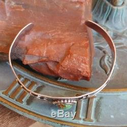 Fred Harvey Era Royston Turquoise Horse Sterling Silver Stamped Cuff Bracelet