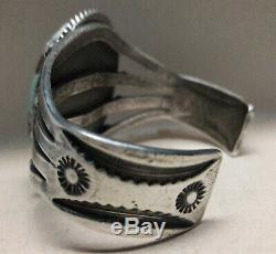 Fred Harvey Era Spiderweb Turquoise Sterling Silver cuff bracelet 61 grams