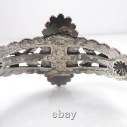 Fred Harvey Era Sterling Silver Turquoise Bead Ball Arrow Cuff Bracelet LFK4