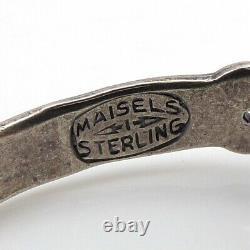 Fred Harvey Era Sterling Silver Turquoise Bracelet Maisel's Trading Post LFH4