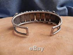 Fred Harvey Era Turquoise Sterling Silver Cuff Bracelet Navajo