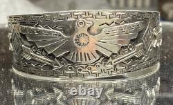 Fred Harvey Style sterling silver Polished Spirit Animal bracelet 31 Grams