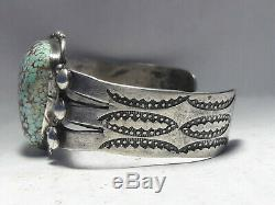 Fred Harvey era Number 8 Turquoise Sterling Silver bracelet 41.1 grams